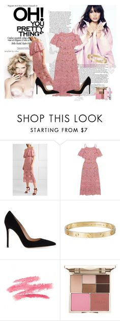 """#44"" by abecic3 ❤ liked on Polyvore featuring Elie Saab, Gianvito Rossi, Cartier and Stila"