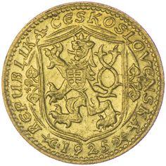Dukat 1925 Tschechoslowakei Gold,  Auflage: 65.784 Stück