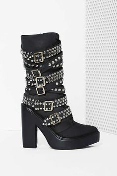 OMG!!!  I must have these!!! Jeffrey Campbell Ruckus Leather Boot | Shop You, Me and the Moon at Nasty Gal