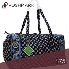Large night owl duffle RETIRED PRINT EUC not my pictures but looks the same not sold anymore can fit clothes for a week of travel I used it instead of a suitcase ✖ no trades Vera Bradley Bags Travel Bags