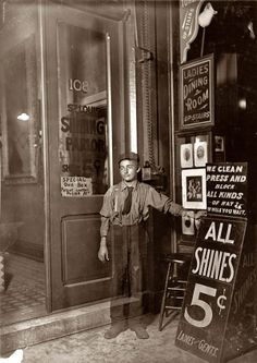The ghost of shoe shine boys past.