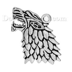 Worldwide Free Shipping Zinc Metal Alloy Pendants Wolf Animal Head Antique Silver 44mm(1 6/8) x 27mm(1 1/8), 20 PCs [B67179] at incredible low price– DoreenBeads.com