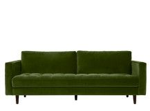 Scott 3 Seater Sofa, Grass Cotton Velvet | made.com