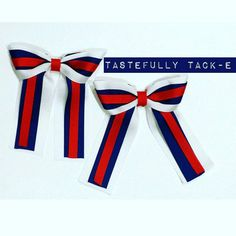 Horse Show bows. Small Equestrian style short by TastefullyTackE
