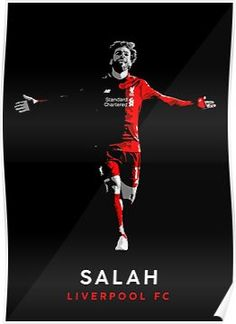 'Mo Salah Liverpool FC' Poster by Keira Michelle Court Liverpool Vs Manchester United, Salah Liverpool, Liverpool Fc, Mo Salah, Best Player, The Unit, Football, Fun, Movie Posters