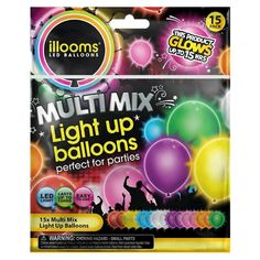 Illooms Multi-Colored Balloons 15 CT