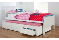 Charlie White King Single Timber Kids Bed
