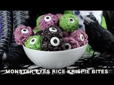 Monster Eye Balls Rice Krispie Bites - Two Sisters Crafting
