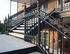 Decorative Cast Iron Stair and Balcony Railings from Heritage Cast Iron USA.
