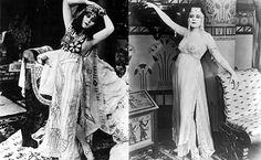 """Belle Époque. Surge en esta época la idea de """"mujer fatal"""", personificación de la seducción, encarnada sobretodo por la actriz THEDA BARA, primera """" femme fatale"""" del cine mudo de Hollywood"""