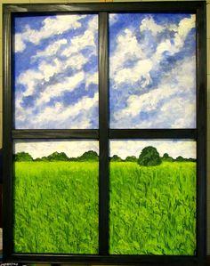 GALERIA PALOMO MARIA LUISA: VENTANA A LA PRADERA Windows, Paintings, Window, Ramen