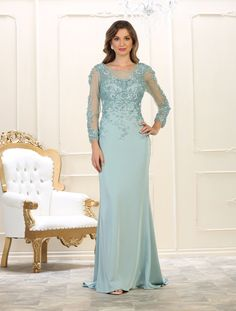 8684d4be4a1c This gorgeous long prom dress features an embellish pearls and rhinestones  embroideries over mesh material on