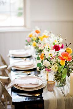 Spring florals centerpiece