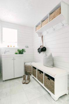 Pacific Northwest Home Tour - Lemon Grove Lane Laundry Mud Room, Home, Paint Cabinets White, House Tours, Family Living, Great Rooms, Mud Room Storage, Authentic Living, Lemon Grove
