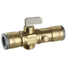 Dahl 521LB-QG3-QG3D Rough Brass Quarter Turn Straight Valve