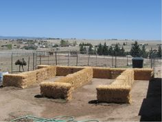 hay bale garden tutorial and link to blog about it...