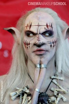 "Tereza Huskova, ""Yaroukay"" for Cinema Makeup School, modeled by David Josiah Moore,"