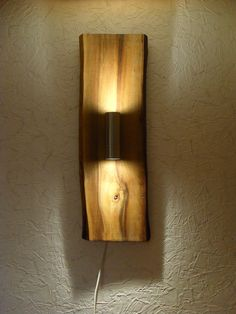 Rustic, handmade wall lamp, LED spotlight, wall lamp 85 cm made of wood After a barn find of several walnut boards that probably stored there several decades, I have .