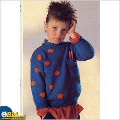 Childrens jumper boys Knitted in DK yarn sweater knitting pattern Num34 patterns on eBid United Kingdom