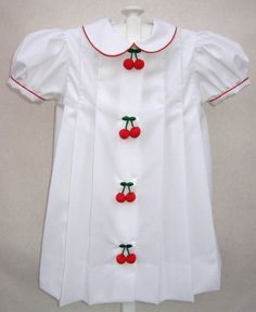 The classic cherry dress by The Woman's Exchange in St. Louis (handmade)