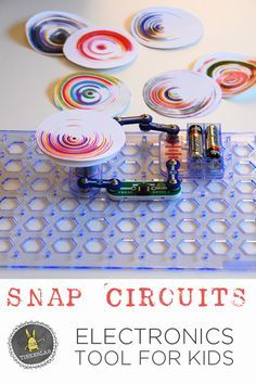 """""""If you're in the market for a toy for a child who likes to build things, tinker, or is curious about how things work, Snap Circuits SC-300 tops my list.""""  Snap Circuits and DIY Spin Art 