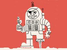Spaceman by Luke Bott #illustration