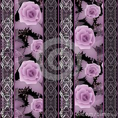 Безшовная флористическая белая картина шнурка с розами цветет предпосылка