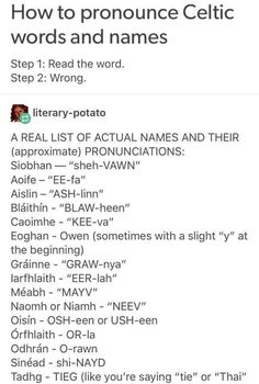 How to pronounce Celtic words and names Book Writing Tips, Writing Help, Writing Prompts, Writing Ideas, The Words, The More You Know, Good To Know, Icons Tumblr, Writing Characters