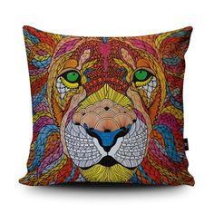 Lion Cushion by Paul Robbins