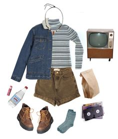 """""""theater kids movie day"""" by jjaded ❤ liked on Polyvore featuring American Apparel, Yves Saint Laurent, Chapstick and Toast"""