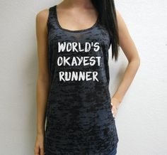 21664d2b509 World s Okayest Runner Tank Top