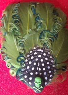 Green skull skull fascinator wedding fascinator by msformaldehyde, $14.50... Find one for hair similar