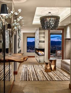 FOUR SEASONS PENTHOUSE 02  Foyer  Hallway  Contemporary  Eclectic  Rustic by DH INTERIORS INC
