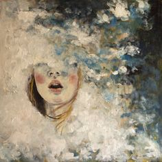 "Saatchi Art Artist Eva Lewarne; Painting, ""In the Clouds"" #art"
