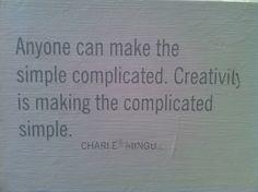 creativity and simplicity