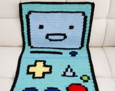 Items similar to Shabby Chic Giant Crochet Amigurumi Bow Tie Pixel Art Blanket/ Rug/ Couch Cover on Etsy Minecraft Blanket, Couch Covers, Housewarming Party, 8 Bit, Pixel Art, House Warming, Art Pieces, Fiber, Shabby Chic