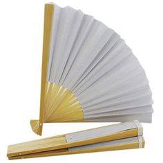 Paint Your Own Paper Fans - Set Of 3