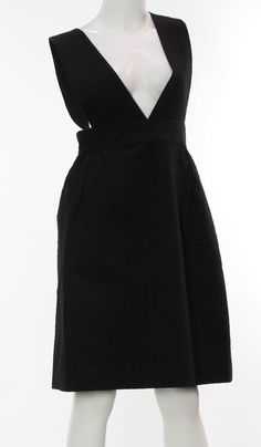 Womens ORLA KIELY Black 100% Cotton Solid Knee-Length High Waisted Skirt Size 4