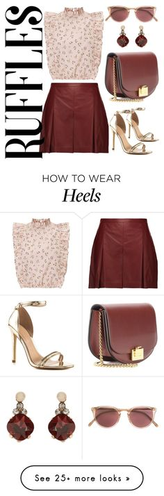 """""""Ruffled Shirt"""" by angelarmoyer on Polyvore featuring Proenza Schouler, ALDO, Victoria Beckham, Oliver Peoples and Accessorize"""