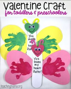 An easy and adorable You Make My Heart Flutter Valentine craft.