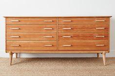 homenature - Vintage 8-Drawer Renzo Rutili Dresser with Chrome Side-Handles