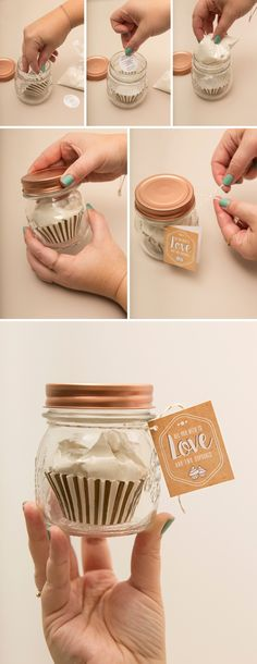 You HAVE To See This 2-Cupcake Mix Favor Jar!