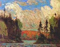 "Tom Thomson - ""Black Spruce in Autumn"", 1915 artsrow.com"