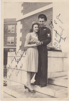 Sailor and his girlfriend, WWII. When I look at these I always wonder whether they survived the war, what became of them, and if I've seen pictures of Papa's buddies.