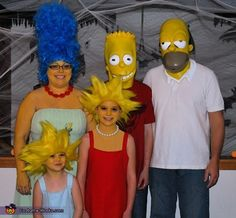 The Simpsons Family Costume OOOH we can do this...  dont think anyone else will go for it though :/