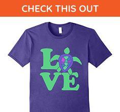 Mens Love sea turtle t-shirt cute sea turtles love retro style  XL Purple - Animal shirts (*Amazon Partner-Link)