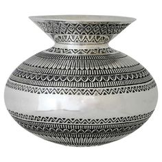 Navajo Sterling Silver Vase Daniel Sunshinve Reeves 1995 | From a unique collection of antique and modern vases at http://www.1stdibs.com/furniture/dining-entertaining/vases/