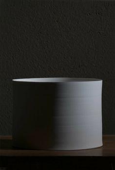 white ceramics by Taizo KURODA, Japan 黒田泰蔵