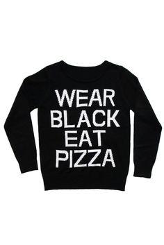 Pizza Knit Sweater [B]