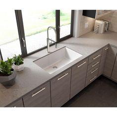 White Undermount Kitchen Sink, Granite Kitchen Sinks, Double Bowl Kitchen Sink, Kitchen Island, Kitchen Worktops, Kitchen Faucets, Undermount Sink, Window Over Sink, Kitchen Sink Window